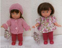 Habits poupée 20 cm : ensemble rose pour mini Corolline : Jeux, jouets par mcl-poupees