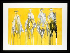 Trish Wylie | Four of the Seven (of the Magnificent Seven) | Original Watercolour | 117 x 88 cm
