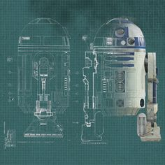 Star Wars - R2D2 Blueprint Canvas Wall Art Shop at Wayfair.co.uk - Up to 70% OFF Everyday!