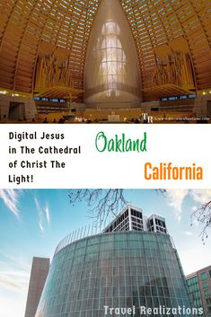 When I saw a digital Jesus in The Cathedral of Christ The Light in Oakland, California, I was overcome by the sheer brilliance of the idea. If you are planning a trip to Oakland in California then you have to visit this church. #Oakland #California #TravelCalifornia #VisitOakland #Church #DigitalJesus Oakland California, Visit California, California Travel, Oak Land, Photo Essay, Future Travel, Cathedral, Travel Tips, Travel Destinations