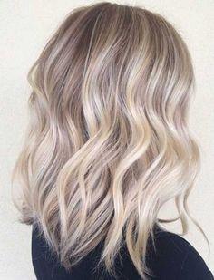 Ash Blonde Ombre Highlights for Medium Hair