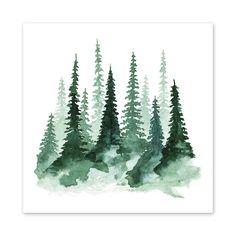 Woodland Trees No1 || Amy Rogstad || fercute.com