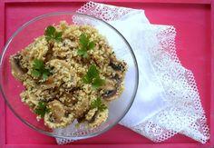 Da Panela para o Coração : Quinoa com cogumelos salteados