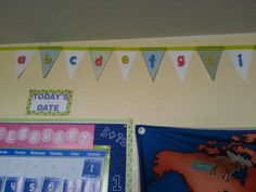 The abc banner I made for the homeschool classroom