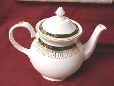 Royal Grafton China Dinnerware England Majestic-Green Era 1957 Teapot. #RoyalGrafton