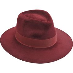 Larose Fedora hat (17.570 RUB) ❤ liked on Polyvore featuring accessories, hats, red, fedora hat, red hat, red wool hat, wool fedora hats and red fedora hat