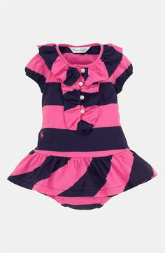 Ralph Lauren Stripe Dress  amp  Bloomers (Infant) available at  Nordstrom  Cute Baby 4d6f5f9928c