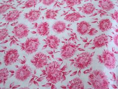 Vintage Fabric Pink Floral Cotton Feed Sack Fabric  by NehiandZotz, $10.00