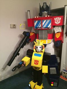 You would love this costume parks it has real working lights diy transformer costume solutioingenieria Choice Image