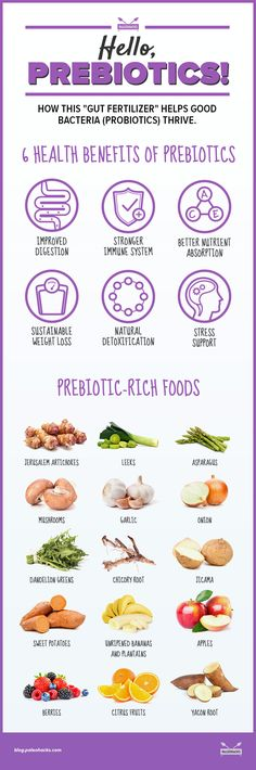 You can't nurture the probiotics in your system without these prebiotics.
