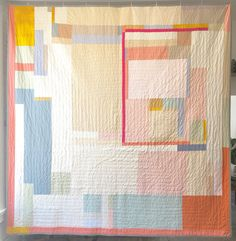 And the back of APQ2 #adampoguequilt 2. Made from scraps from the front. #quilt #textile #iamadampogue