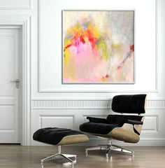 Large wall art abstract painting Giclee print up to par DUEALBERI