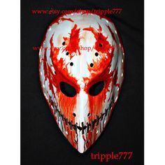 Hockey mask, Hockey goalie, NHL ice hockey, Roller Hockey, Hockey goalie mask, Hockey helmet - custom made paranoi mask HO51