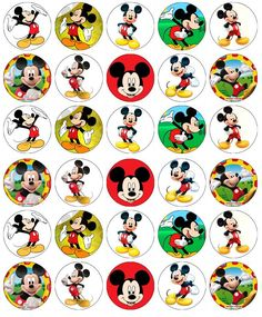Mickey Mouse Disney Cupcake Toppers Edible Wafer Paper Buy 2 Get Free! Mickey Mouse Cake Topper, Mickey Mouse Design, Fiesta Mickey Mouse, Mickey Mouse Decorations, Mickey Mouse Images, Mickey Mouse Cupcakes, Mickey Mouse Art, Mickey Mouse And Friends, Mickey Mouse Clubhouse