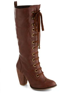 Tall vintage style fall autumn boots