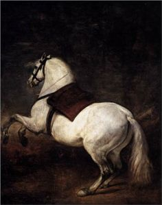 A White Horse    Artist: Diego Velazquez    Completion Date: 1635    Style: Baroque    Technique: oil on canvas  Dimensions: 310 x 245 cm    Gallery: Palacio Real