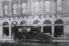 Cross & sons garage in Located on Sullivan's Quay, Cork Cork City, Cork Ireland, Historical Society, Old Photos, Big Ben, Sons, Garage, Thoughts, Building