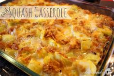 This squash casserole recipe has been in my family for years. I remember helping both my Memaw and my Mom make this. This casserole is quick and easy to make with fresh squash that is so abundant at this time of year. Easy Squash Casserole, Yellow Squash Casserole, Casserole Recipes, Casserole Dishes, Vegetarian Casserole, Hamburger Casserole, Vegetable Casserole, Vegetarian Entrees, Quiche Recipes