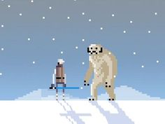 How can I not pin some Star Wars pixel art...? I only wish I had time to produce it too! :-(: