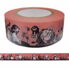 【ムーミン】マスキングテープ(野原の2人/お手伝いのミーサとムーミンママ)moo-fe001