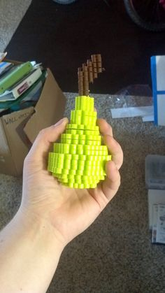 sandylandya@outlook.es  3D Perler bead Pear by Asarothem on deviantart