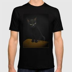 The eyes are so important to black cat. #society6 #cat #猫 #cats #feline #tshirts #clothing #Tシャツ