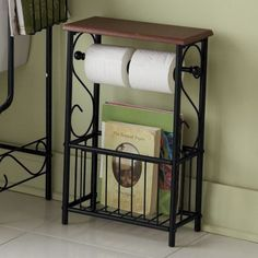 Toilet paper and magazine table