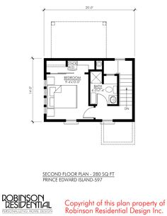 This is the 597 Sq. Prince Edward Island small home design/plans by Robinson Residential. The Prince Edward small home plan is inspired by the iconic farm house captured in the class… Tiny House Living, Small Living, Cottage Plan, Prince Edward Island, Small House Design, Home Design Plans, Small House Plans, Building Plans, Floor Plans
