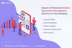 Protocloud Technologies a digital marketing company in India provides online reputation management services. By using our ORM services you will get more benefits like Increase Sales, Build Credibility, Online Insights, Reveal Your Best Side, Recruitment, etc. Increase Sales, Reputation Management, Digital Marketing, Insight, India, Technology, Business, Tech, Rajasthan India