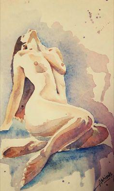 #nudeSERIES #watercolour @dabhisek570