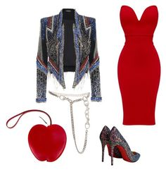 """Untitled #461"" by lakishablack on Polyvore featuring Christian Louboutin, Christian Dior and Hermès"