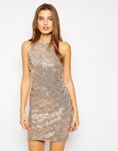 Gold Jessica Wright Ebony Sequin Dress @ ASOS $80