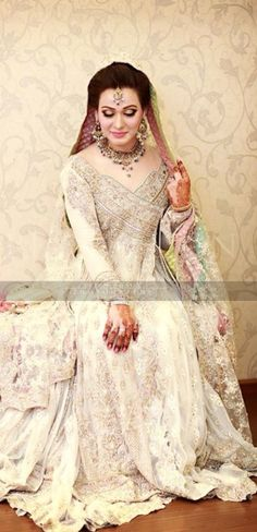 Bridal engagement dresses collection consists of hottest trends, styles & beautiful designs of Pakistani & Asian gowns, frocks, lehengas, etc. Desi Bride, Desi Wedding, Wedding Attire, Formal Wedding, Wedding Wear, Wedding Themes, Wedding Bells, Elegant Wedding, Lehenga