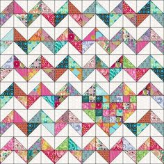 Looking for your next project? Youre going to love iHeart Chevrons Quilt Pattern by designer Marie Joerger. - via Craftsy Half Square Triangle Quilts – co-nnect. A quick and easy project using your sewing machine. Make adorable patchwork placemats using Diy Quilt, Scrappy Quilts, Easy Quilts, Quilt Top, Chevron Quilt Pattern, Quilt Block Patterns, Quilt Blocks, Half Square Triangle Quilts Pattern, Half Square Triangles