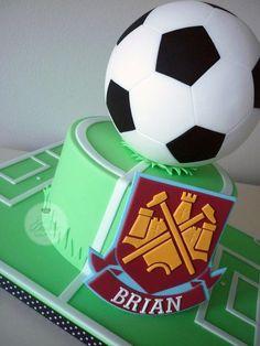 West Ham Football Birthday Cake - Cake by Isabelle Bambridge