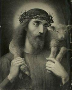 Christ the Good Shepherd Catholic Art, Religious Art, Religious Pictures, Jesus Loves Us, Pictures Of Jesus Christ, Jesus Face, Prophetic Art, Heart Of Jesus, The Good Shepherd
