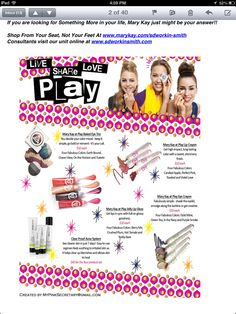 All new products!! MK@PLAY only $10 each!! Go to www.marykay.com/dayres-potocki to check out these fabulous products and more!!