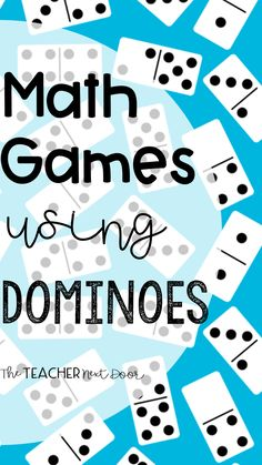 Find lots of ideas for FREE, fun math games using dominoes in this post for 5th Grade Math Games, Math Games For Kids, Kindergarten Math Activities, Homeschool Math, First Grade Math, Teaching Math, Math Math, Teaching Ideas, Math Fractions