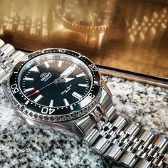 #📷 @the_wandering_watch 👈 Thanks! #Repost #strapcodefeaturing ⌚ Band Ref : SS221820B113 #Orient #Kamasu #Green + #strapcode #miltat 👍❤️ #diverwatch #watches #watch #orologio #orologio #watchoftheday #watchaddict #instawatch #wristwatch #time #watchgeek #watchesofinstagram #uhren #wristshot #horology #watchuseek #orologiaio #wristwatches #mako3 316l Stainless Steel, Stainless Steel Bracelet, Seiko Alpinist, Orient Watch, Double Lock, Watch Companies, Audemars Piguet, Wristwatches, Watch Bands