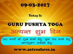 Today is guru pushya yoga