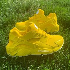Adult Custom Huaraches Yellow Peach Lilac Baby Blue Pink,Adult Custom Huaraches Yellow Peach Lilac Baby Blue Pink Boots Boots have a lengthy base and hold people good and warm in autumn and winter. All Nike Shoes, Hype Shoes, Adidas Shoes, Cute Sneakers, Shoes Sneakers, Yellow Sneakers, Haraches Shoes, Big Shoes, Jeans Shoes