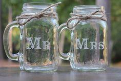 Custom Etched Mason Jars by MyCustomVases on Etsy