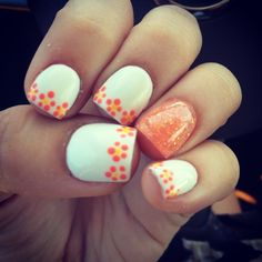 Summer 2014 Nails with flowers!