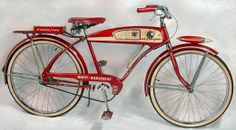 Very cool. Not only do I love the pure retro-ness of this 1955 Huffy, but it also has a radio in it.
