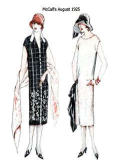 Slim column dresses in McCalls Pattern Images - August 1925