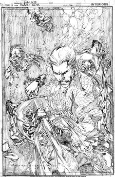 Aquaman #8 - Ivan Reis pencils on board