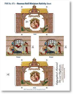Four Miniature Nativities Collection Combo - PaperModelKiosk.com  HEUREUX NOȄL MINIATURE NATIVITY