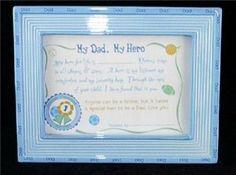 "'My Dad My Hero' 9"" x 7"" Ceramic Plaque"