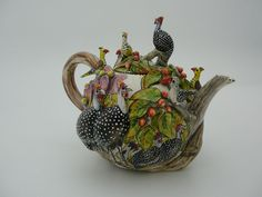Small Guinea Fowl Teapot by artistsofafrica.typepad.com > Intu Art