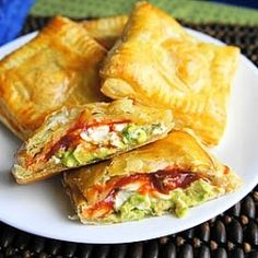 Avocado, Cream Cheese, and Salsa Pockets